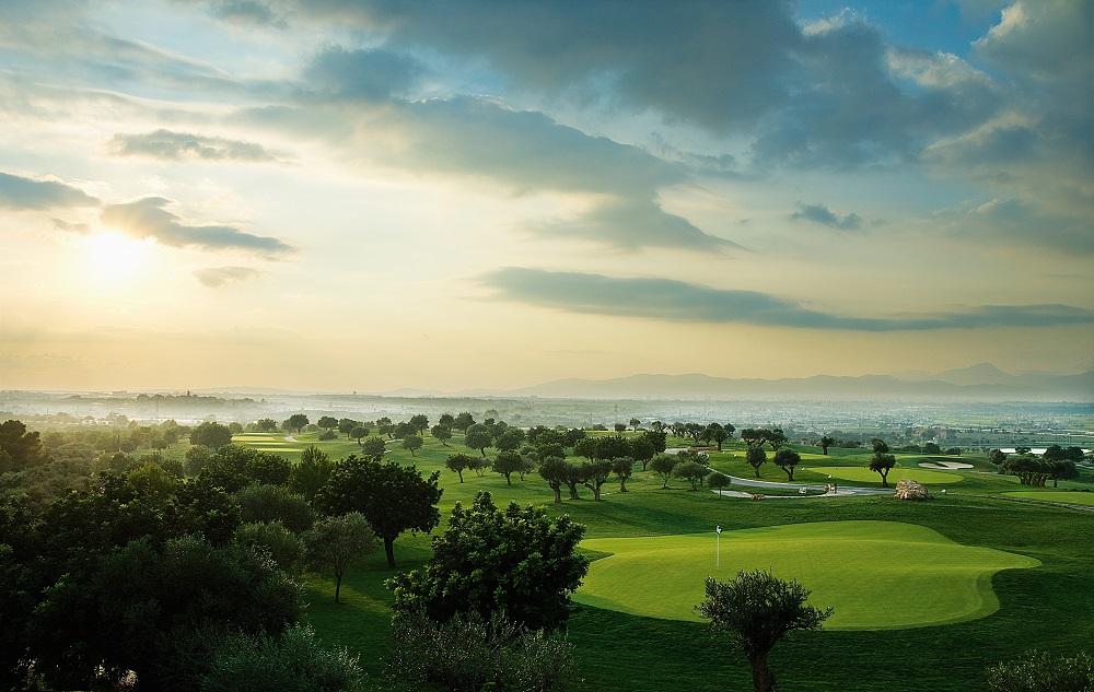 La vue aérienne du golf de Son Gual.