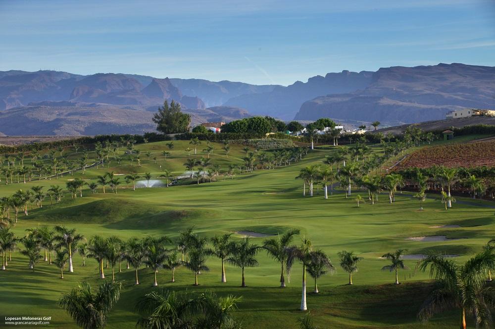 Une vue aérienne du golf de Lopesan Meloneras.