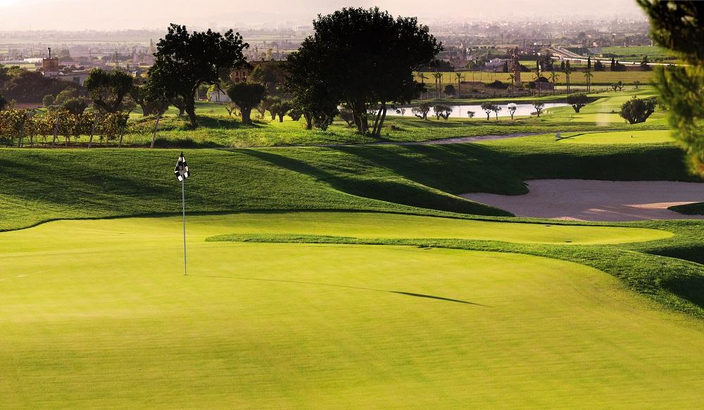 Un green du golf de Son Gual.