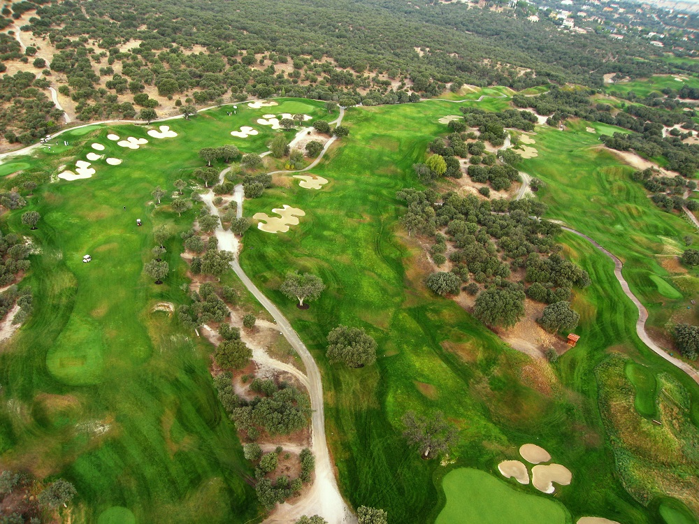 Vue aérienne des fairways de Real Sociedad Norte