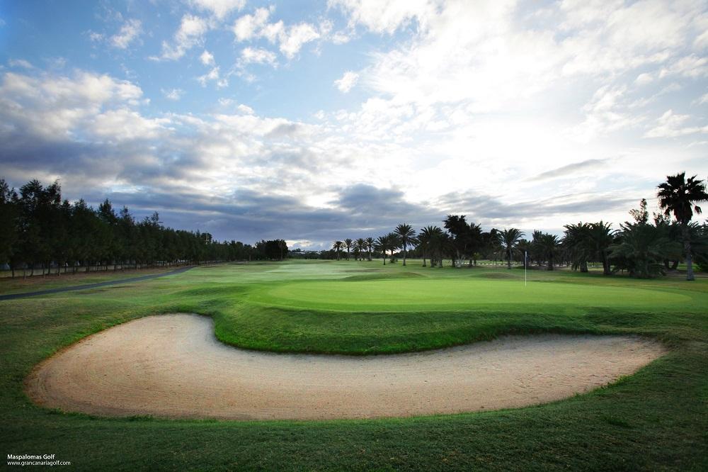Un bunker du golf de Maspalomas.