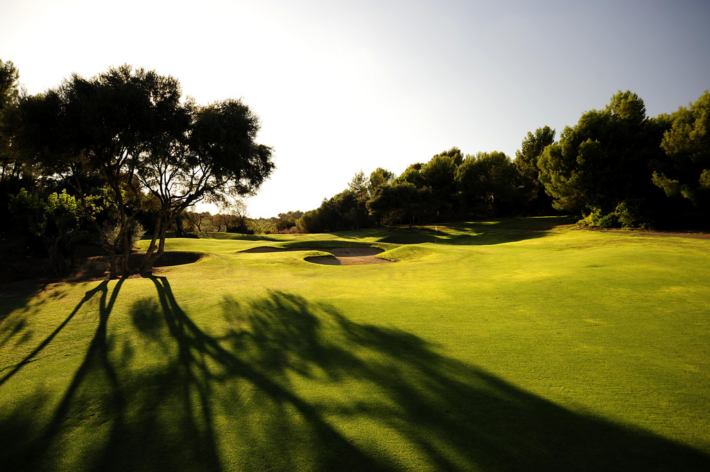 Le fairway du golf de Son Muntaner.