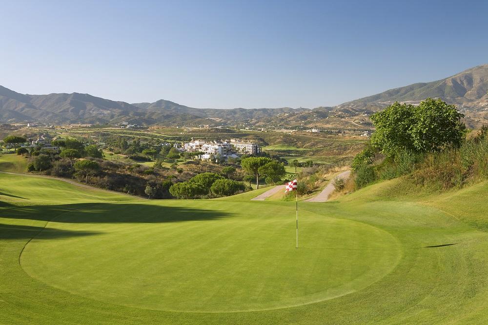 Un green du golf de la Cala Campo America North.