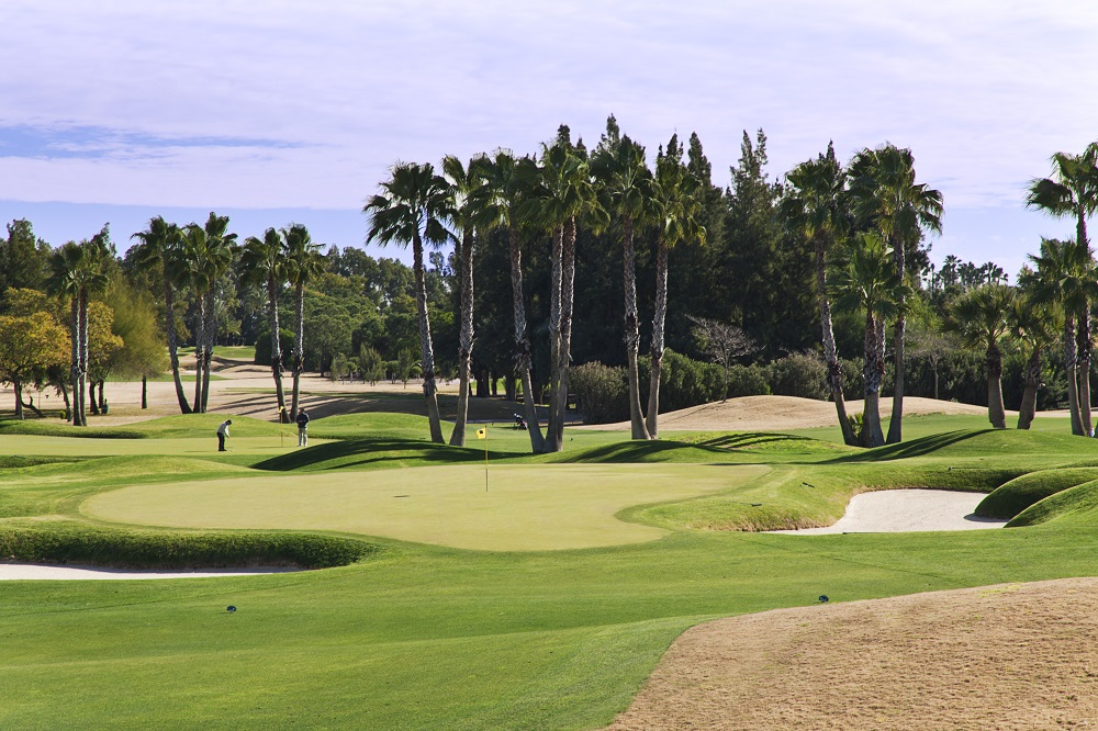 Green, fairway et bunker au parcours de Real Sevilla
