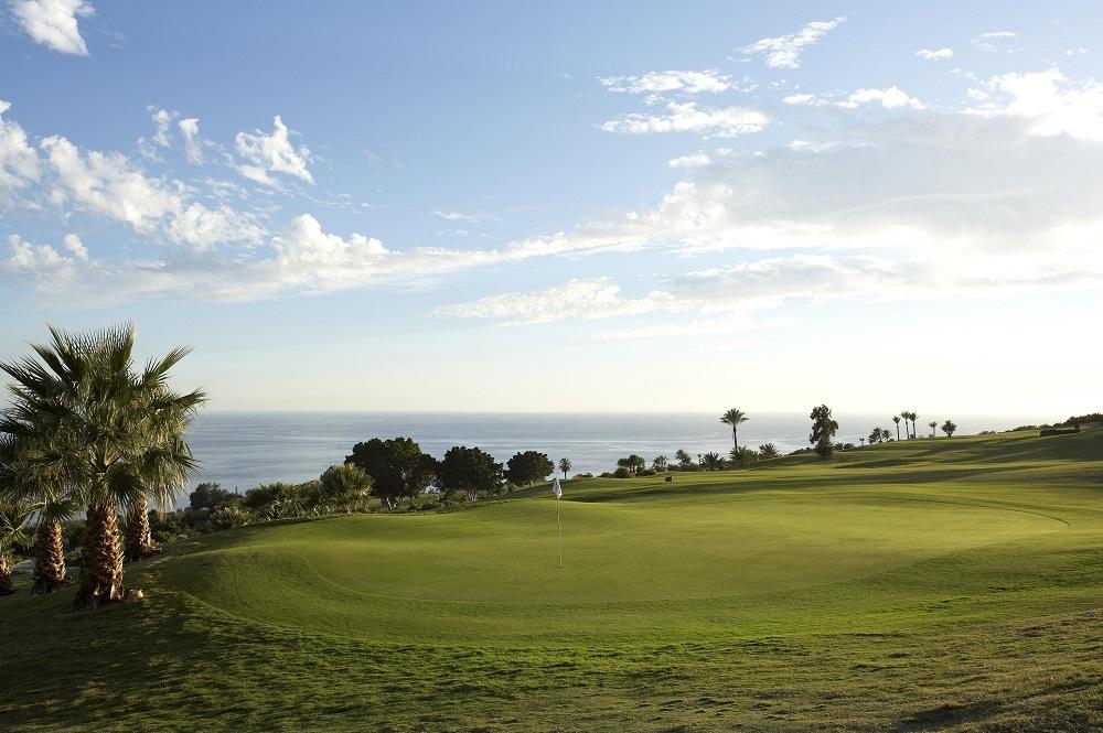 Le green du golf de Tecina.