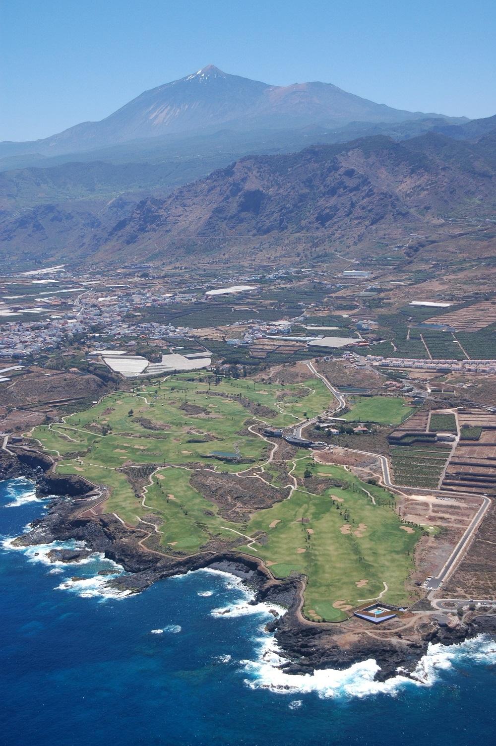 La vue aérienne du golf de Buenavista.