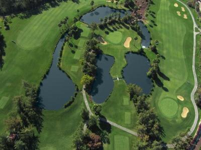 Vue aérienne du golf Las Americas