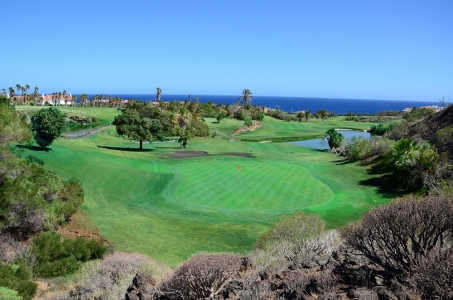 La vue du green du Golf Del Sur.