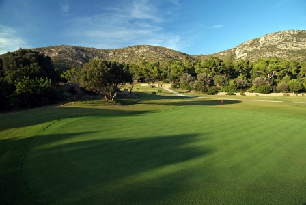 Un paysage du golf d'Alcanada.