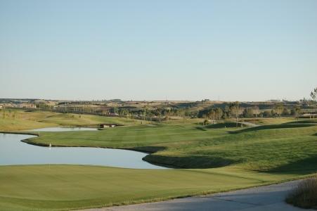 Un étang du golf de Saldaña.