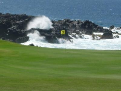 Les vagues du golf de Buenavista.