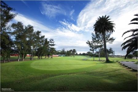 La vue du golf de Maspalomas.