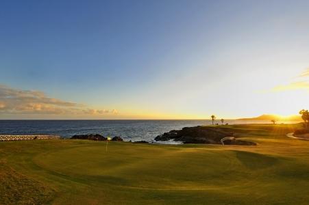 Le couché du soleil du golf d'Amarilla.