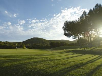 Le green du golf de La Manga.