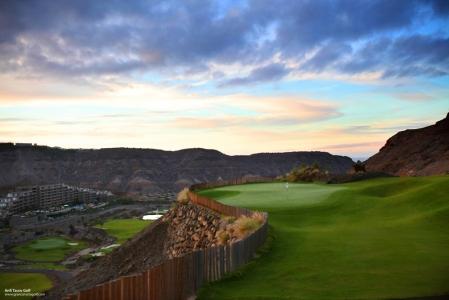 Le paysage du golf d'Anfi Tauro.