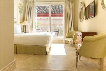 Chambre double avec terrasse de l'hotel La Casa del Poeta