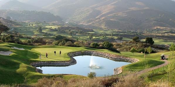 Obstacle d'eau avec fontaine à La Cala América