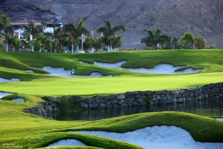 Un green du golf d'Anfi Tauro.