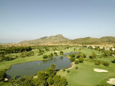 La vue aérienne du golf de La Manga.