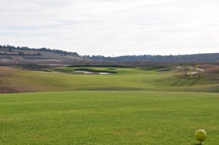 Un départ du golf de Saldaña.