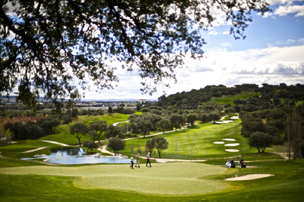 Green et fairway du golf Neguri