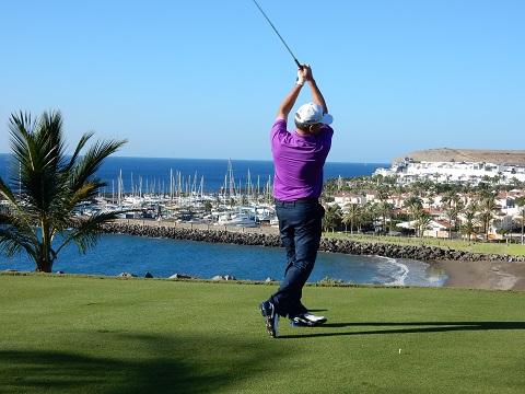 Vue sur le port golf Espagne client